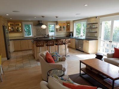 Photo for Large Beach Home - huge gourmet kitchen, dog OK!