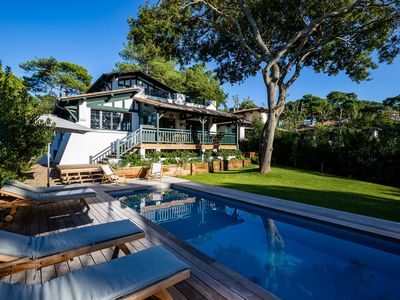 Photo for VILLA PYLA-SUR-MER PANORAMIC VIEW BASIN - GARDEN - TERRACES-HEATED SWIMMING POOL