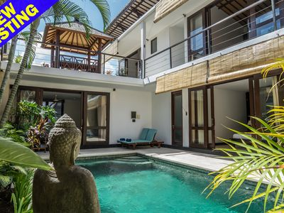 Photo for Kiaja, 3 Bedroom Villa, A/C living area, private gated compound, near Seminyak