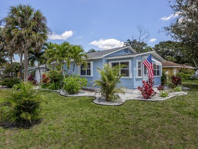 Photo for Recently updated, dog-friendly cottage w/ large yard - quick drive to the beach!
