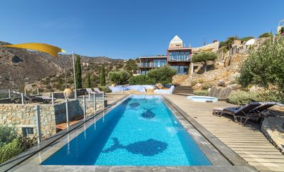 Photo for Exclusive villa private pool terraced garden, seaviews 10 mins. drive from beach
