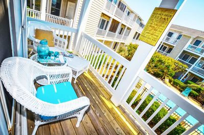 Poolside deck off of your living room
