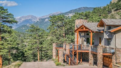 Photo for Stunning home,  spectacular privacy and views, boardering RMNP- all king beds!