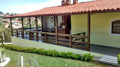 Photo for beautiful chacara, swimming pool, sauna, party room, barbecue, pizza oven,