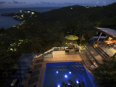 Photo for New to St. Thomas USVI:  Relax poolside at Villa with a View at Hull Bay!