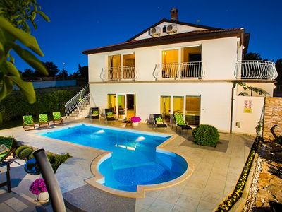 Photo for Romantic villa near Rovinj with private pool, 5 bedrooms, 4 bathrooms, washing machine, Wi-Fi, air conditioning, sauna, whirlpool and fitness