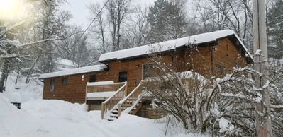 Photo for Authentic & Awesome ADK Cabin - Sleeps 11 Comfortably