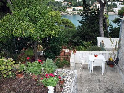 Photo for One bedroom apartment with balcony and sea view Dubrovnik