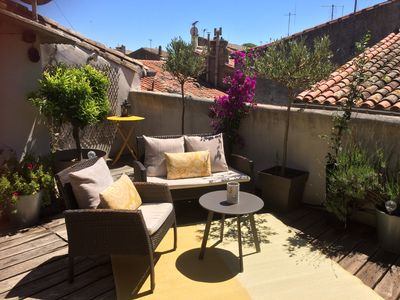 Photo for Wonderful historic French townhouse with a fantastic roof terrace.