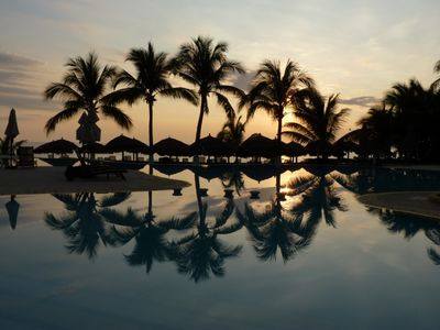 Tranquility by the Pool at Sunset at the BVG Residencial