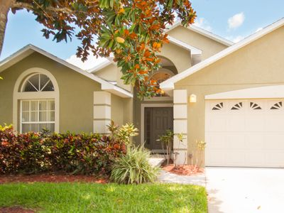 Photo for Home Sweet Home - 4 bedroom villa w/private pool, 4 miles to Disney!