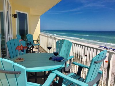 Photo for Affordable Luxury @ Sea Dunes 3BR/3BA Gulf Front End Unit Free Chairs & Umbrella