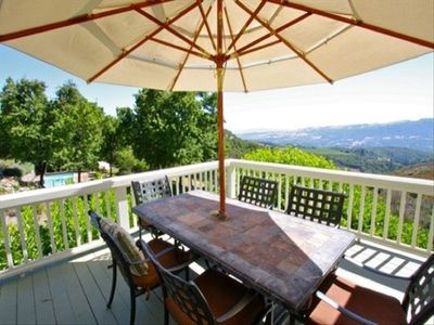 Photo for Wine Country Estate with Vineyard Views, Pool, Great for Groups!