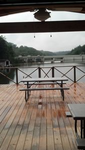 Photo for Swimming and fishing right off your deck!