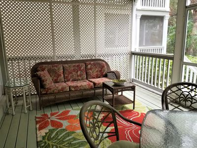 large screened outdoor living area