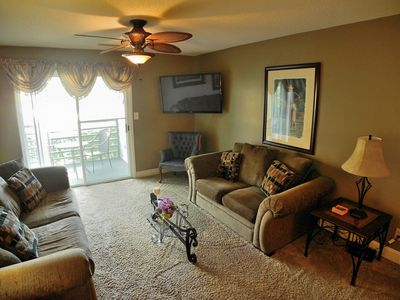 Photo for Sandwedge 106! Beautiful first floor 2 Bedroom Condo 1 block to Beach! Book now for best rates!