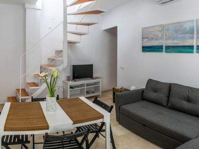 Photo for MALAMA Picasso - Bright duplex penthouse with terrace in the historic center