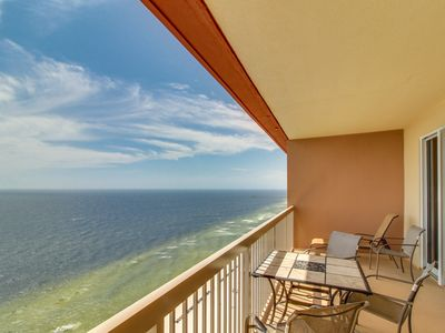 Photo for Oceanfront penthouse condo w/ Gulf views, pools, & hot tub! Snowbirds welcome!