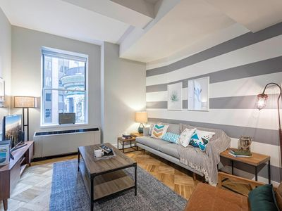 Photo for Calming FiDi 1BR w/ Lux gym, Speakeasy, + Doorman by Blueground
