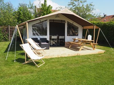 Photo for Luxury camping near the dunes of Terschelling