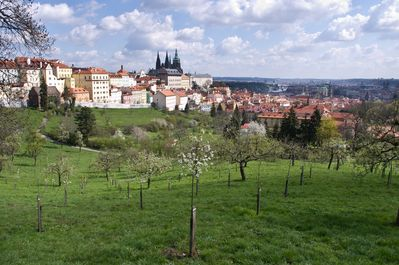 Petrin park is situated just few minutes walk from Loreta