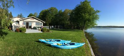 Photo for Gorgeous Home Situated On 140 Ft. Of Private Intermediate Lake, Bellaire Mi