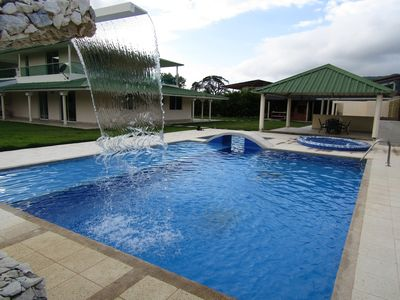 Photo for Country house with private pool 800 meters from the beach of Bahia Concha