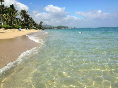 Crystal clear water...great for swimming, snorkeling or just splashing around