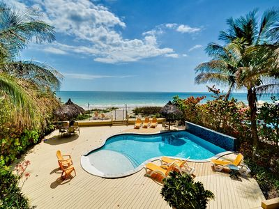 Photo for Sugar Sands Beachfront Hideaway   On The Beach with Brand New Pool