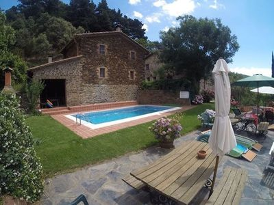 Photo for Cozy Apartment in Catalonia with pool and garden