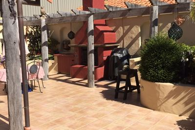 Rear Courtyard with BBQ