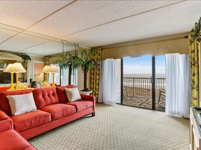 4th Floor Oceanfront condo with remodeled kitchen & baths. W/D, pool, tennis , community grills and private fishing pier!