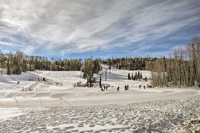 The condo has ski-in access to Brian Head Resort from the top of the Navajo Lift