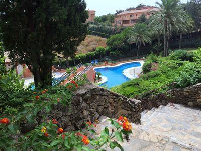 Photo for Fantastic penthouse with sea views, golf and tennis at Marbella, Elviria Alta