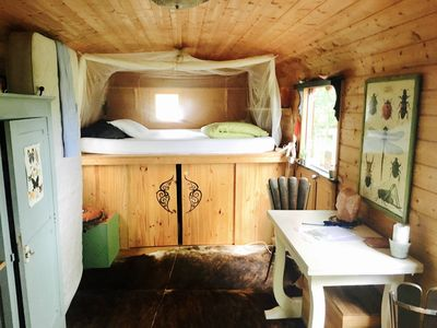 Photo for Wooden trailer in nature in the Dordogne