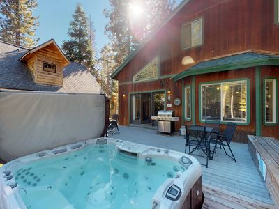 Photo for Spacious home w/ private hot tub & a game room with foosball and a pool table!