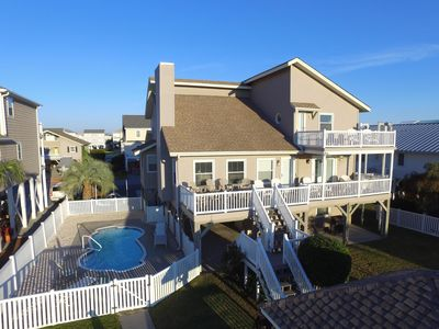 Photo for Beautiful Canal Home w/ Private Pool, Spacious decks  & Large Boat Dock