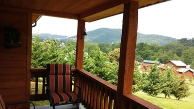 Photo for Beautiful Cabin on a hill with scenic view