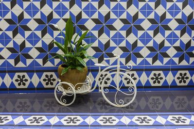 Detail of the andalusian patio in Jerez