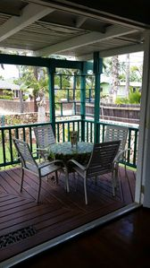 Enjoy your Hawaiian leisure on the lanai just off the living room.