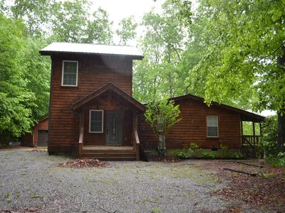 Photo for Hand Crafted Log Cabin - Mountain views, and close to Lake Glenville