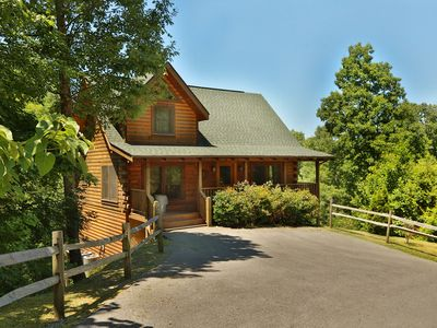 Photo for Beautiful 3 Level Cabin! Hot Tub, Pool Table, Arcade Game! Free -  Pool, Putt Putt, Fishing, Etc!