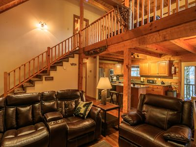 Photo for 3BR Mountain Cabin, Hot Tub, Pool Table, Lake Access & Beech Mtn Club Privileges
