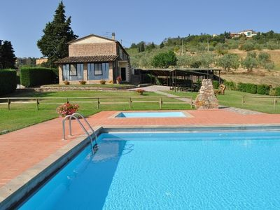 Photo for Walking distance to town, super panoramic with private pool and garden,Wifi, AC