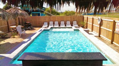 Photo for Corpus Christi Hotel Beach House Sleeps 8 with new waterfall bar pool and BBQ.