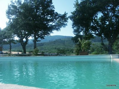 Photo for Gite in a property of 12 hectares among 5 cottages in the Luberon with swimming pool