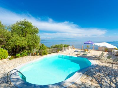 Photo for Michalis: Large Private Pool, Walk to Beach, Sea Views, A/C, WiFi, Car Not Required, Eco-Friendly
