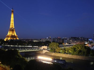 Photo for Incredible Eiffel Tower Views on the Seine River - Penthouse