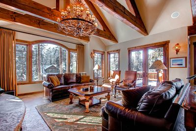 Great Room - lets in great daylight and offers exceptional views of the Ski Area