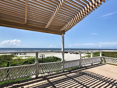 Photo for Galveston Beachfront House w/Ocean Views From Deck